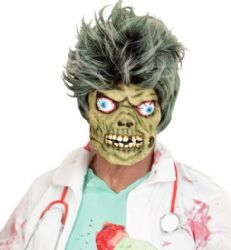 Zombie Half Face Halloween Mask (00836)